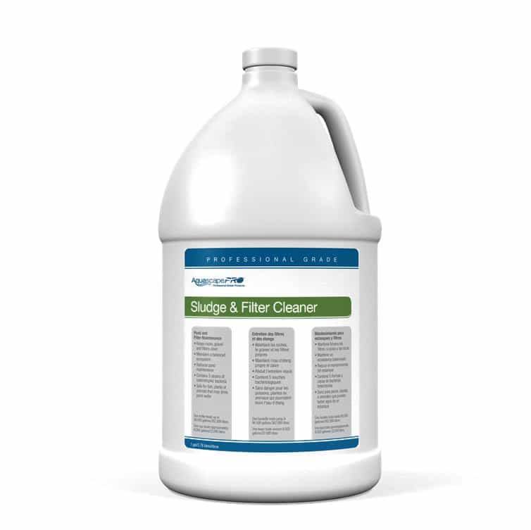 Aquascape pro sludge and filter cleaner 1 gallon for Professional pond cleaners