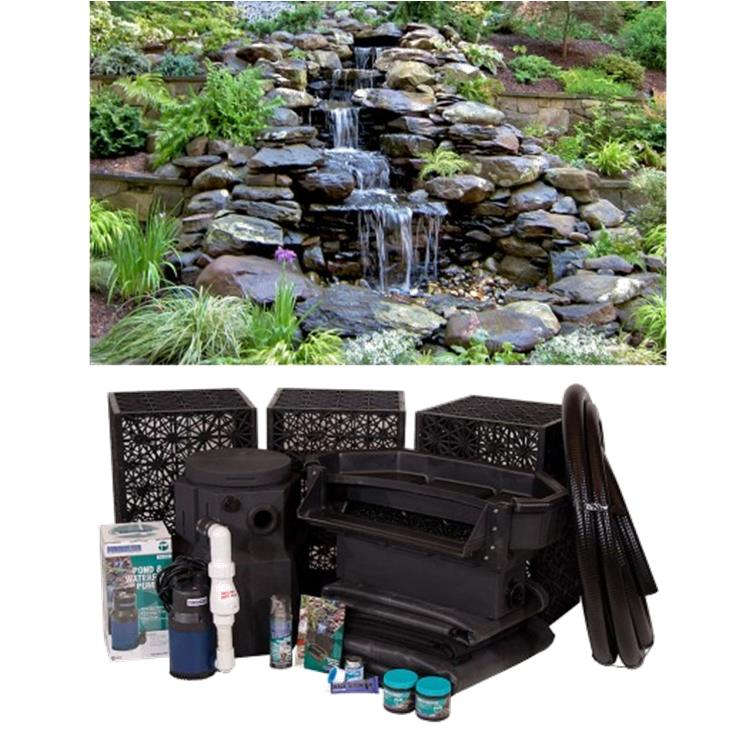 Pond waterfall kits pondscape online for Waterfall supplies