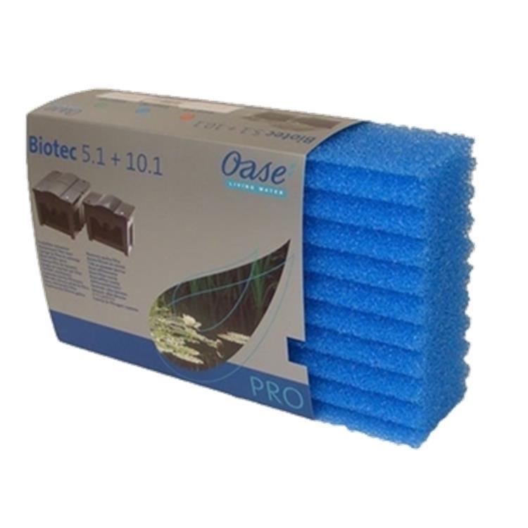 Oase biosmart 5000 10000 blue filter foam pondscape online for Pond filter foam