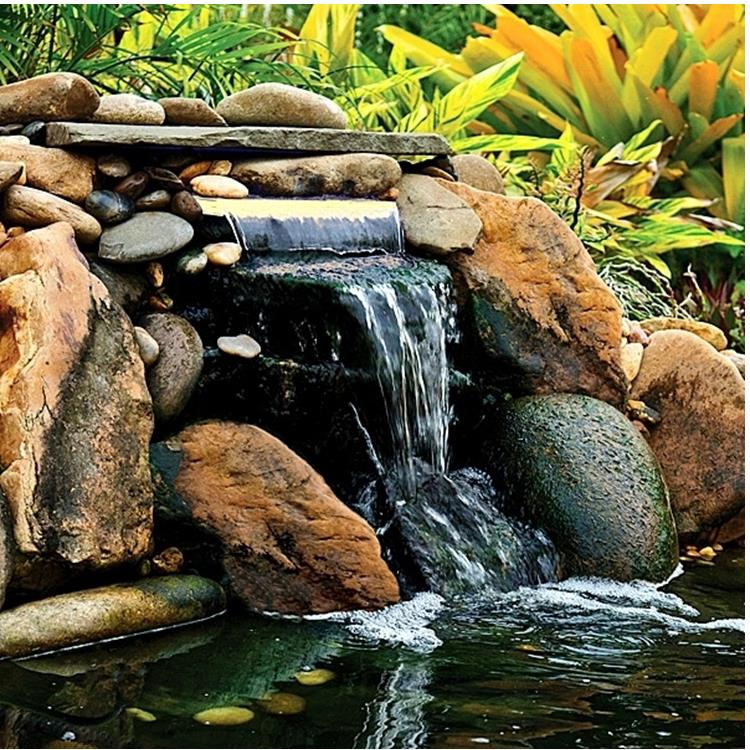 OASE Lighted Waterfall With White LED 14″ Spillway