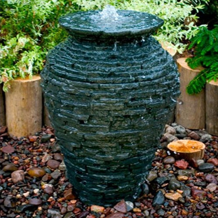 Aquascape Stacked Slate Urn Fountain Kit Small Pondscapeonline