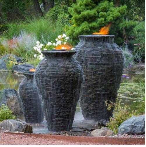Aquascape Stacked Slate Urns